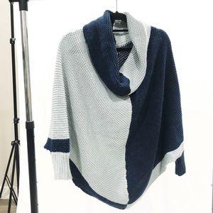 BCBGMAXAZRIA Chunky Poncho Batwing Sweater